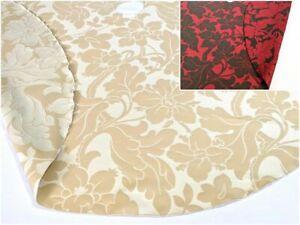 "Reversible Floral Motif 55"" Tree Skirt - Large Size"