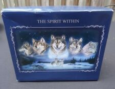 """""""The Spirit Within"""" Illuminated Lighted Glass Ornaments Wolf Art Al Agnew LED"""