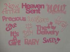 12 new baby girl words for greeting card die cuts scrapbook die cut