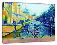 Vincent Van Gogh Red light District Oil Paint  RePrint On Framed Canvas Wall Art