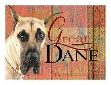 GREAT DANE ART  Dog Print Poster Vintage Dane signed Wendy Presseisen