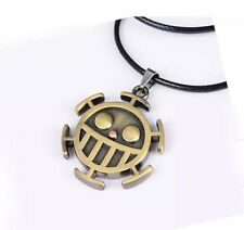 "One Piece Trafalgar Law Logo Necklace Chain Pendant Anime Cosplay 2"" US Seller"