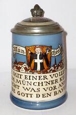 Âge Villeroy Boch Mettlach Chope Biere Munich Kindel Kindl pichet HB Munich v&b