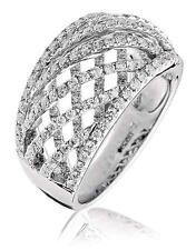 Diamond Wedding Ring Lattice Design 1.30ct F VS Brilliant Cut in 18ct White Gold