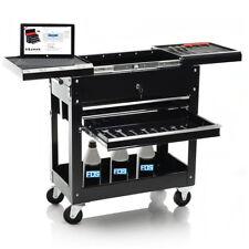 Rolling Mechanics Tool Cart Trolley Utility Storage Cabinet Sliding Top W/Drawer