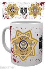 Tasse officielle The walking dead tasse badge sheriff Rick grimes mug