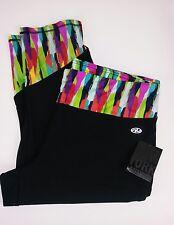 N.Y.L. New York Laundry Sport Jogging Yoga Capri Pants Plus Size 3x Black/Multi