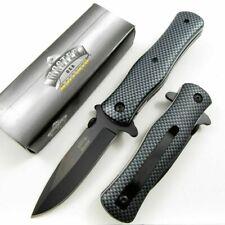 Carbon Fiber Camo Nylon Fiber Handle Style Spring-Assisted Folding Pocket Knife
