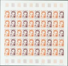 Francia. MNH Yv 1825 (50) . 1975. 80 Cts + 20 Cts Multicolore, Feuille Complète