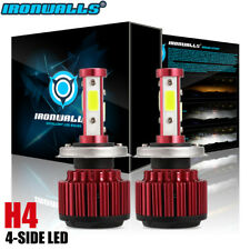 IRONWALLS H4 9003 LED Headlight Bulbs Hi/Lo Beam 6000K Conversion Kit HID Fog