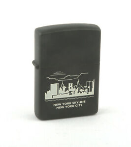 Zippo 1990s-00s New York Skyline, New York City Lighter (Black Matte)