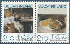 Finland 1991 MNH - Set of 2 Stamps - Pro Philately - Helene Schjerfbeck