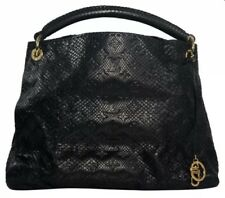 Louis Vuitton Limited Edition Black Python Monogram Embossed Artsy MM 0a0ccb13835