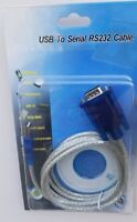 5Ft USB 2.0 to Serial RS232 DB9 PL2303 Cable Adapter Converter