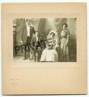 Vintage Matted Photo - Wedding Photo -JACOBS Family, Pete & Ida + Sponsers