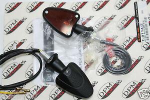 "DPM Set Blinker "" Race Bullet '' IN Aluminium Schwarz Universal"