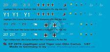 Peddinghaus 1/87 (HO) Otto Carius Tiger I & Jagdtiger Markings (4 tanks) 2976