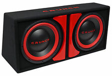 "Crunch CR-212A 1000w Dual 12"" Powered Loaded Subwoofers+Sub Box Enclosure CR212A"