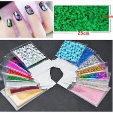 50Pcs Pellicole Dito Fai da Te Nail Art Sticker Decal acqua trasferimento adesivi Tips decorazione