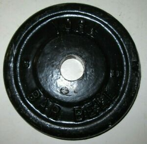 1 York Barbell 5 LB Weight Plates Standard 1 1/8 Hole Vintage