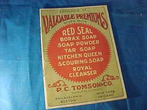 Orig 1909 RED SEAL Brand SOAP POWDER Coupon PREMIUM CATALOG