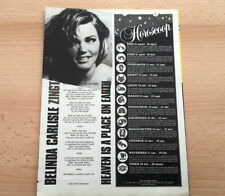 BELINDA CARLISLE 'Heaven' lyrics ARTICLE/clipping from Joepie magazine (Belgium)