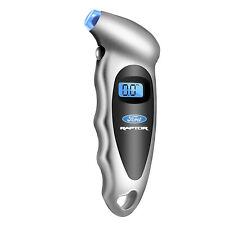 Ford F150 Raptor Silver Digital Tire Pressure Gauge with LED-Backlit LCD Display