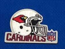 Cardinals Helmet Shaped Patch with NFL Logo and Team Name