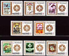 Manama 1971 ** Mi.549/56A Pfadfinder scouts Weltpfadfindertreffen world jamboree