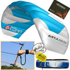 Peter Lynn Impulse TR 2M 2 Meter Foil Trainer Kite Kitesurf  3-Line Control Bar