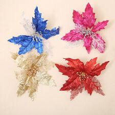 JP_ FT- Fake Artificial Flower Arrangement Sequin Hollow Christmas Tree Decora