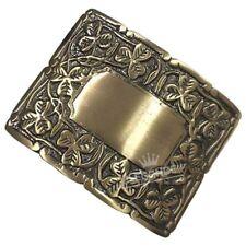 Deluxe Thistle Design Kilt Belt Buckle Antique/Irish Shamrock Kilt Belt Buckles