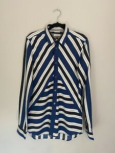 Paul Smith Stripe Shirt Mainline With Gold Top Button