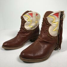 Sam Edelman Brown Leather Western Style Leather Boots Shane Model Women's 6M