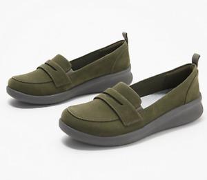 Clarks Cloudsteppers Sillian 2.0 Slip-On Loafer Size 8.5M Olive
