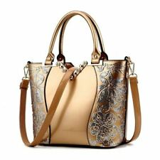 Sequin Embroidery Women Bag Patent Leather Handbag Diamond Shoulder Messenger Ba