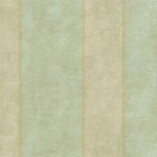 Brandywine Aida Damask Stripe Wallpaper per Double Roll Soft Green & Gold GL4733
