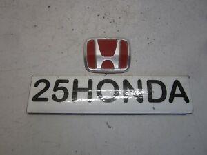 2000-2006 Honda Insight Factory Front H Emblem OEM ZE1 Hybrid Red