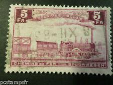BELGIQUE 1935, timbre COLIS POSTAUX 191 TRAINS, oblitéré, PARCEL POST USED STAMP