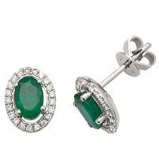 Unbranded Emerald White Gold Fine Earrings