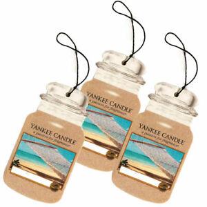 Yankee Candle air Freshener Car Jar Bonus 3 Pack Sun & Sand Anti Odour fragrance