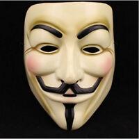 V For Vendetta Mask Guy Fawkes Anonymous Halloween Masks Fancy Dress Costume RR