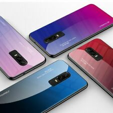 Gradient Back Case Tempered Glass Phone Cover For Oneplus 6t 6 7 Pro Accessories