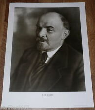 Authentic Soviet Russian USSR Cold War Propaganda Poster Lenin Portrait B/W