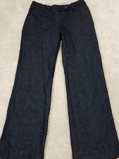 Ann Taylor Loft~Women's Size 4~Trouser Pants Wide Leg Dark Wash Jeans.