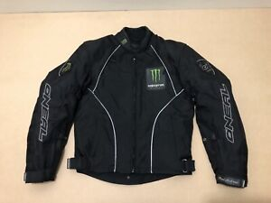 Oneal Fred Andrews Motorcycle Jacket ~ XS ~ Great Cond Monster Energy w/ Padding