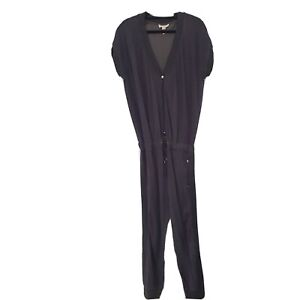 Diesel Jumpsuit Size L Black Jersey Zip Front Womens Designer Very good cond!!