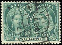 1897 Used Canada 2c F+ Scott #52 Diamond Jubilee Stamp