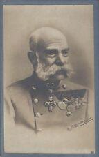 AK :  Gruß von Unseren Kaiser Franz Josef  1848 - 1916  ( Charles Skolik 1914 )