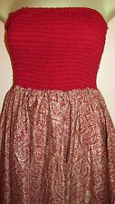 BNWT ELASTCATED LINED INDIAN SARI SILK SKIRT / DRESS BOHO GYPSY HIPPY SIZE 10-14